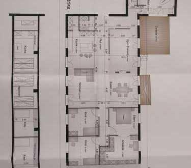 Stilvolle, neuwertige 5,5-Zimmer-Loft-Wohnung mit Terasse und EBK in Erasmusstraße, Pforzheim