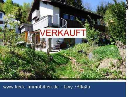 Gepflegtes Einfamilienhaus mit ELW in ruhiger Waldrandlage bei Weitnau