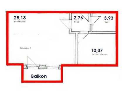 Rodewisch: perfekt für 1-2 Personen, mit Balkon, stufenlos, mit EBK