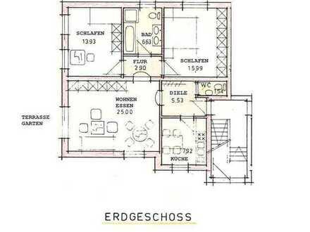 Eigentumswohnung (EG) mit Terrasse und Garage