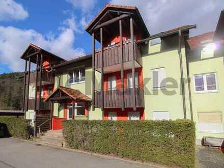Naturnahes Wohnen: Renovierte 2-Zimmer-Erdgeschosswohnung mit Terrasse nahe Pforzheim