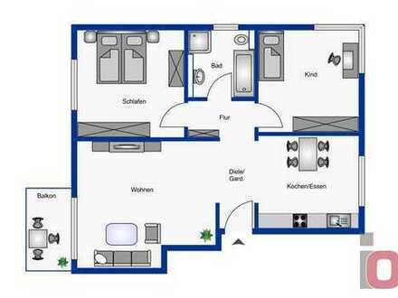 Altersgerechtes Wohnen mit barrierefreiem Zugang – Attraktive 3-ZKB Neubauwohnung im 1.OG mit Balkon