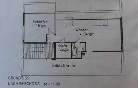 Attraktive 2-Zimmer-Dachgeschosswohnung mit Balkon in Leimen