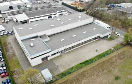 Multifunktionale Lager-/ Produktionshalle mit großem Bürotrakt und Hochlager in Toplage