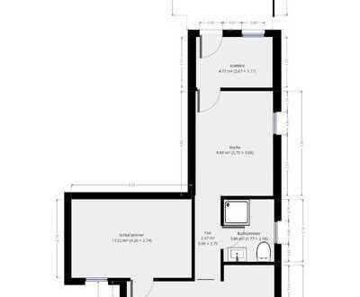 Zentrumsnahe 2-Zimmer-Wohnung mit EBK in Sinsheim