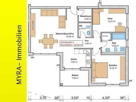*Projektiert* OG-Wohnung Nr.5 mit Balkon und TG-Stellplatz - Barrierefreie & behindertengerecht *