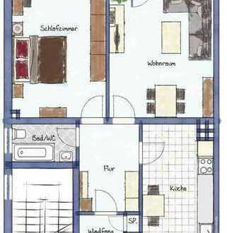 E.- Vogelheim 🏡 helle, schön geschnittene 2 R, KDB mit Süd-Balkon 🏞 mit Aussicht