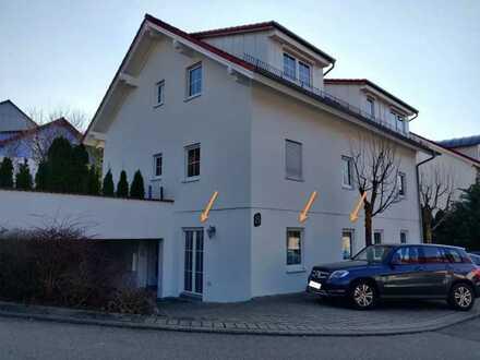 möblierte, modernisierte 1-Zimmer-Erdgeschosswohnung mit Einbauküche in Dätzingen