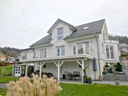 Sehr gepflegtes Einfamilienhaus mit großem Hobbyraum in sonniger und unverbaubarer Aussichtsla