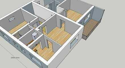 Erstbezug nach Sanierung: ruhige 4-Zimmer-EG-Wohnung mit Einbauküche + Balkon in parknaher Sackgasse