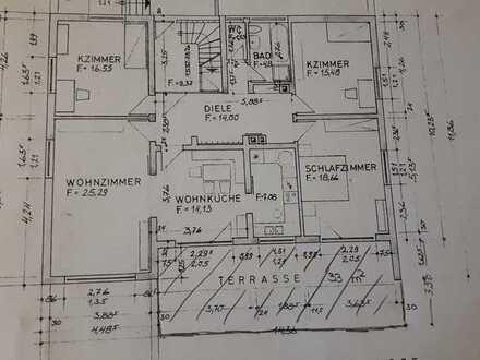 Gepflegte Wohnung mit 4 1/2 Zimmern und grosser Terasse in Birkenau