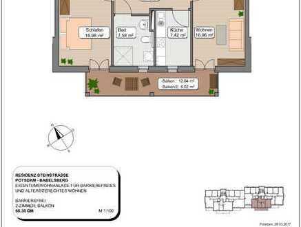 Bezug Ende 2019 - 2-Zimmer Neubauwohnung in gepflegter Anlage