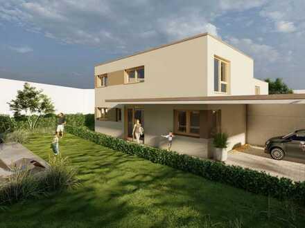 Modernes Einfamilienhaus mit Keller und Doppelcarport inkl. Grundstück
