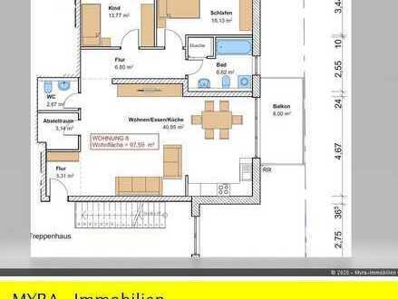 *Projektiert* OG-Wohnung Nr.8 mit Balkon und TG-Stellplatz - Barrierefreie & behindertengerecht *