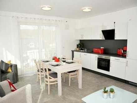Möblierte Wohnungen - R-West - Erstbezug ca75qm mit Balkon, WGgeeignet, Furnished appartment !