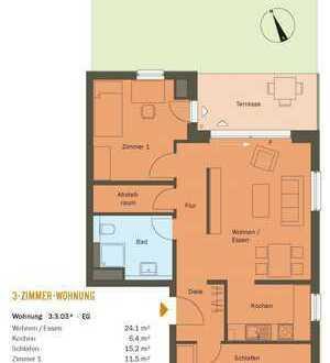 Schöne drei Zimmer Wohnung in Frankfurt am Main, Riedberg