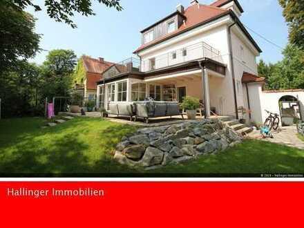 Villa mit wunderschönem Garten * ruhig * Kachelofen * Wintergarten!