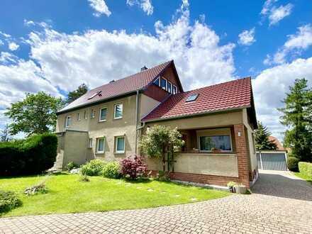 * leicht renovierungsbedürftige Doppelhaus-Hälfte in grüner Bestlage von Hellerau *