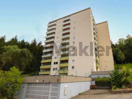 Helle 2-Zimmer-Wohnung mit tollem Weitblick, Balkon und TG-Stellplatz