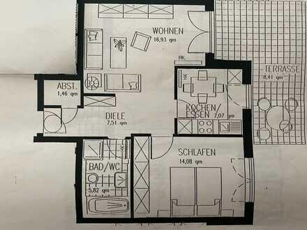 Ruhige, schöne EG- Wohnung mit 2 Zimmern in Launigen (Donau)