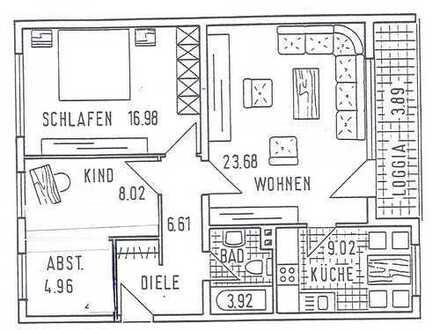 Schöne drei Zimmer Wohnung in Unna (Kreis), Kamen