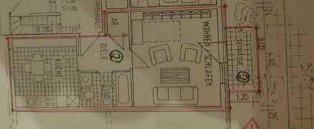Gepflegte 1-Zimmer-Wohnung mit Balkon in Ludwigshafen