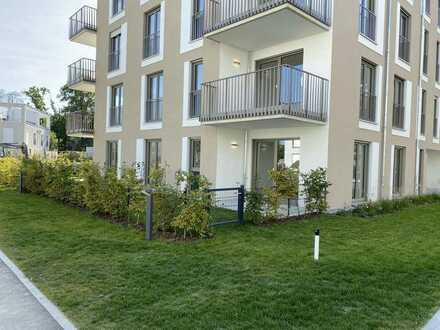 Neubau – Erstbezug: Moderne 2-Zimmer Gartenwohnung