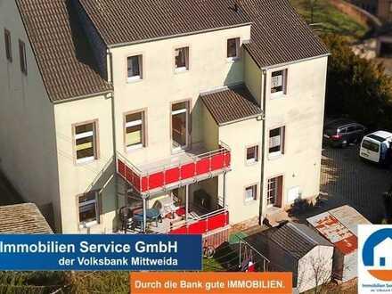Schöne gepflegte 3-Raum Wohnung in Wiederau mit EBK und Balkon