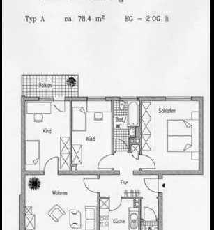 Günstige 4-Zimmer-Wohnung mit Balkon in Bochum