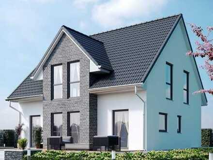 Lichtdurchflutes Dreigiebelhaus - Energieeffizient als KFW 40 Plus Haus mit PV-Anlage und Speicher
