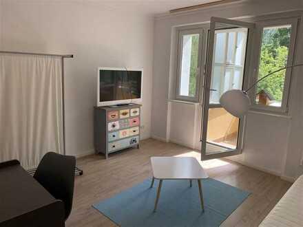 Ruhiges 1-Zi.-Apartment mit West-Balkon in Zehlendorf