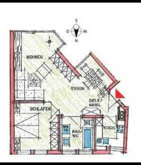 650 €, 59 m², 2 Zimmer