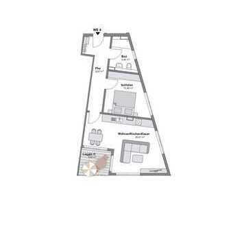 Neubau - 2 Zimmerwohnung mit Loggia