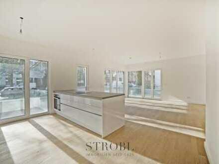 Moderne, lichtdurchflutete 5-Zimmer Maisonette Wohnung mit Gartenzugang