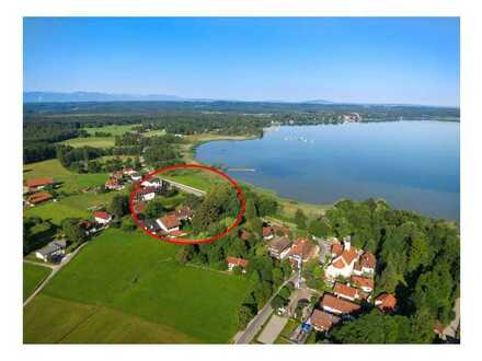Starnberger See: Luxuriöse 3-Zimmerwohnung mit 30 m² Seeterrasse- unverbaubarer Seeblick
