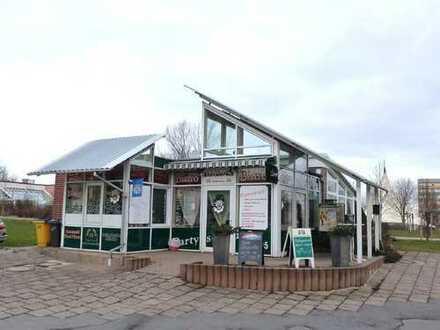 Bistrohaus mit Terrassenfläche und Kamingrill