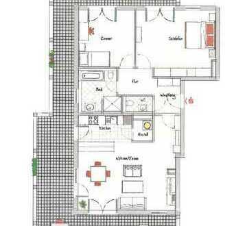 Neuwertige 3-Zimmer-Penthouse-Wohnung mit Balkon und EBK in Ludwigshafen-Melm