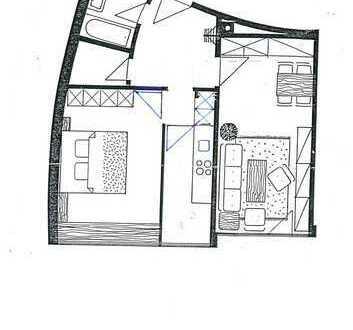 Milbertshofen - 2-Zimmer-Wohnung mit Einbauküche und Schwimmbad