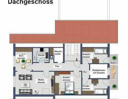 Sanierte DG-Wohnung mit vier Zimmern sowie Balkon und EBK in Warthausen