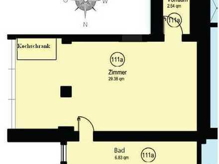 schöne Ein-Zimmer Wohnung mit Kochschrank