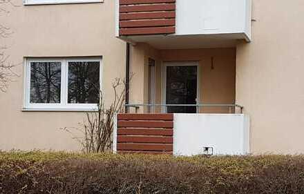 Helle, gepflegte, 1,5-Zimmer-Erdgeschosswohnung mit Balkon in Oberndorf langfristig zu vermieten