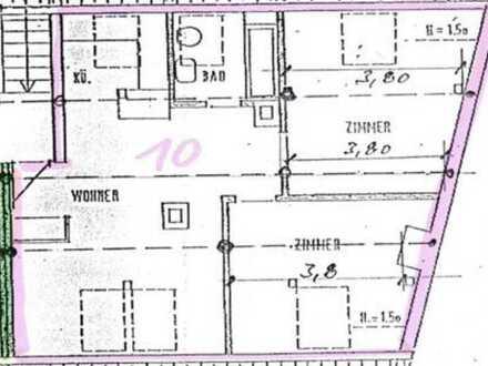 Teilrenovierte 3-Zimmer-Wohnung in Baden-Baden, Innenstadt