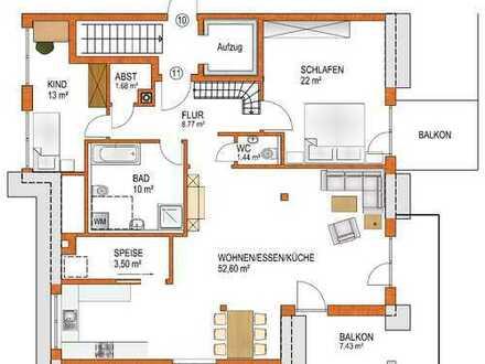 Schöne 4-ZKB-Maisonette-Wohnung im DG / DS mit Balkon in Königsbrunn