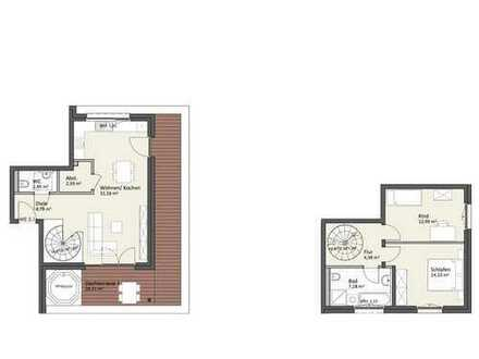 Penthaus-Maisonette mit Dachterrasse & Lift - Wohnung A5
