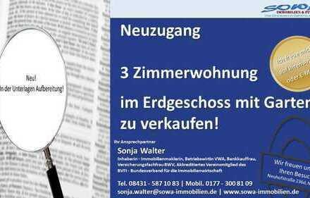 3 Zimmer Wohnung mit Garten in Neuburg an der Donau von ihrem Immobilienpartner SOWA Immobilien &...