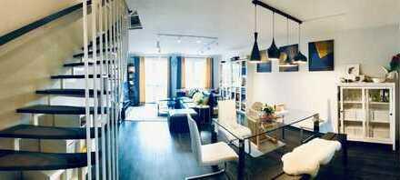 Exklusive, renovierte 4-Zimmer-Maisonette-Wohnung mit Balkon und EBK in Mannheim - Wallstadt