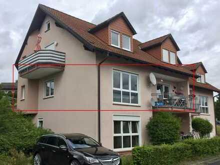 Gepflegte 4-Zimmer-Hochparterre-Wohnung mit Balkon in Stadtprozelten