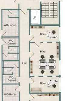 Exclusive Bürofläche: Grundriss und Ausstattung nach Wunsch des Mieters