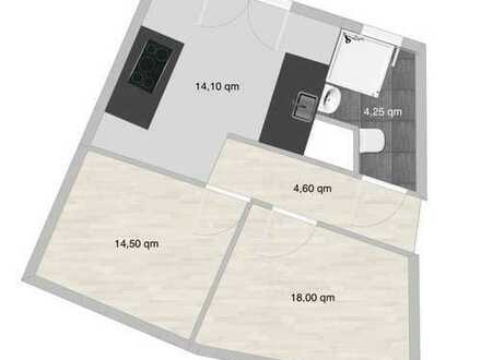 Erstbezug Top Sanierte 2,5-Zimmer-Whg + neue EBK + Smart Home