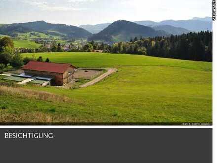 Anwesen für Individualisten mit traumhaften Alpenpanorama ***Pferdehaltung möglich*** 11,5 ha Land